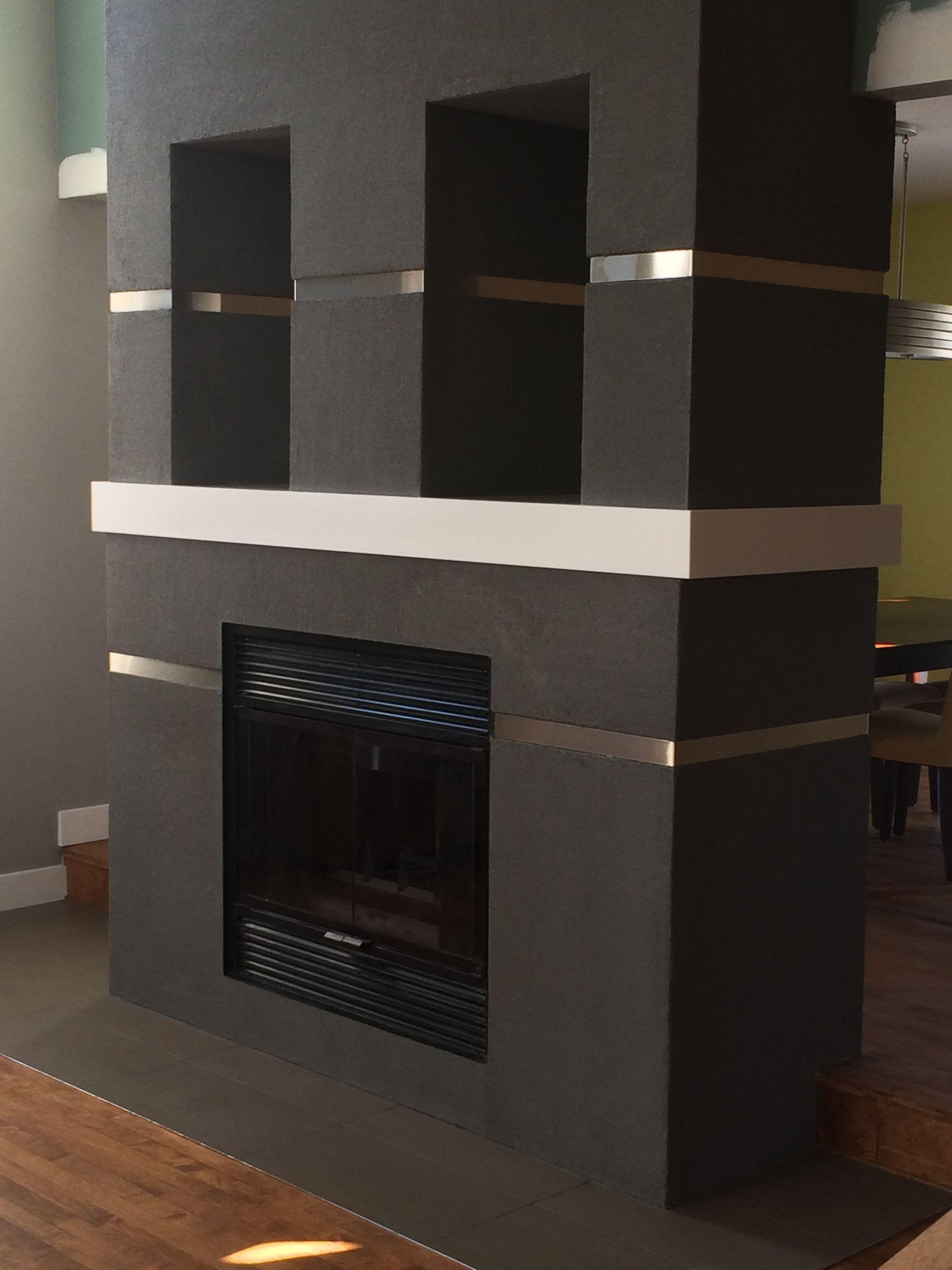 Nos r alisations michel legault r novation - Construction cheminee interieure ...