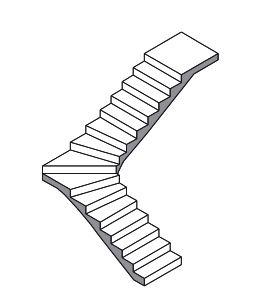 escalier a quatier tournant en bas