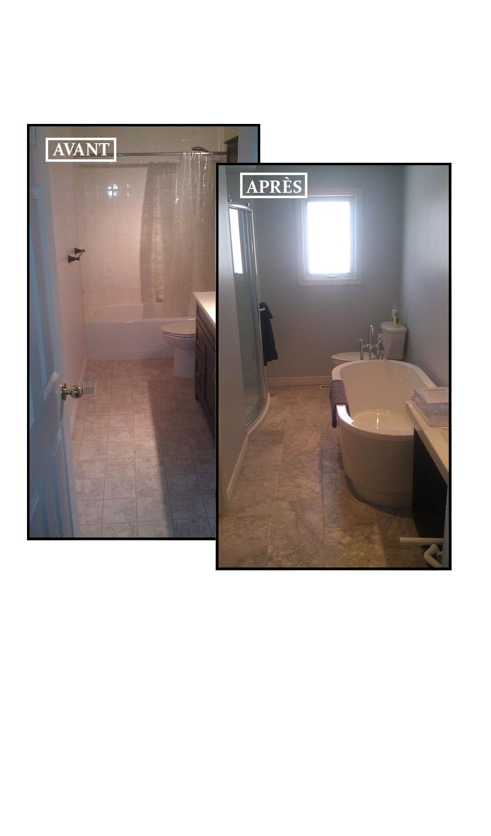 Salle de bain avant apres photos de conception de maison for Salle de bain avant apres